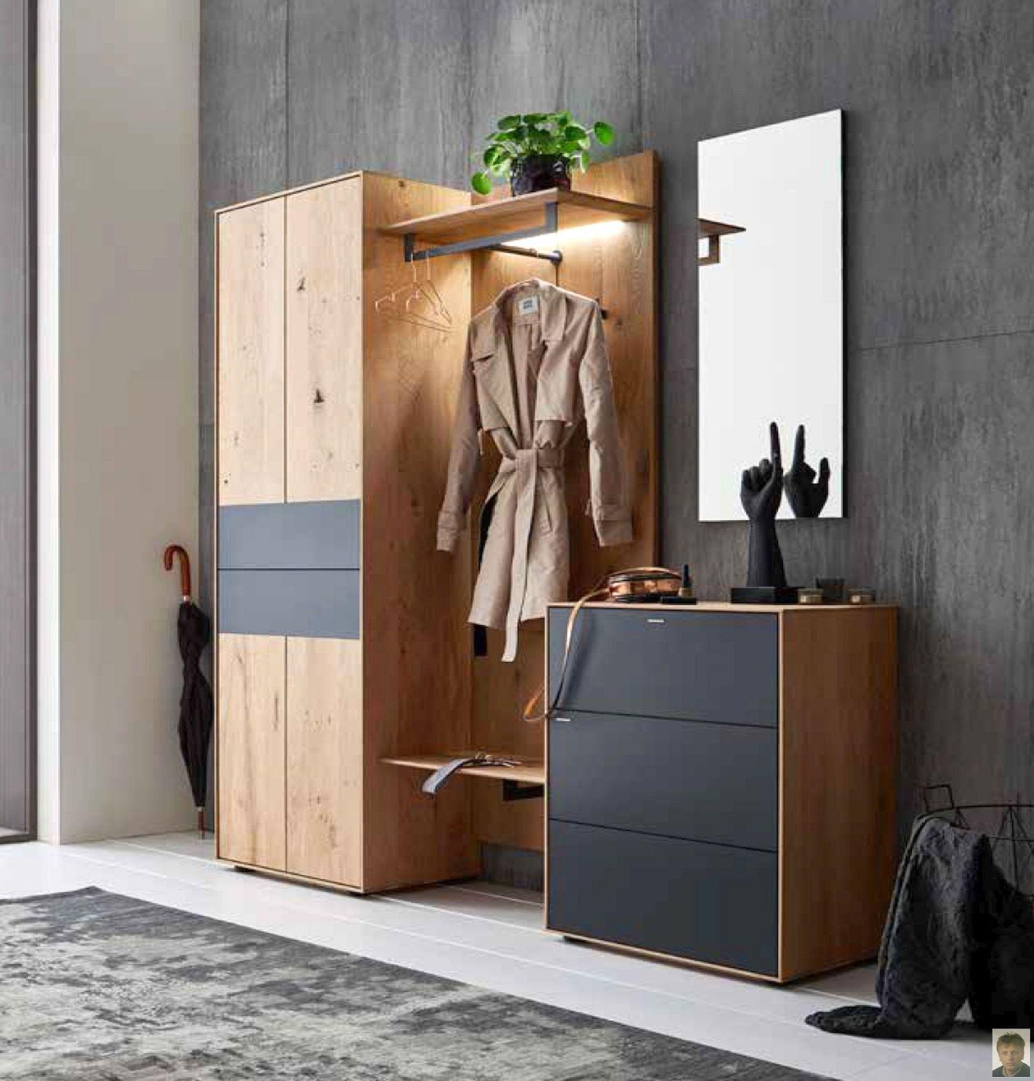 runa garderobe kerneiche natur geb rstet m. Black Bedroom Furniture Sets. Home Design Ideas
