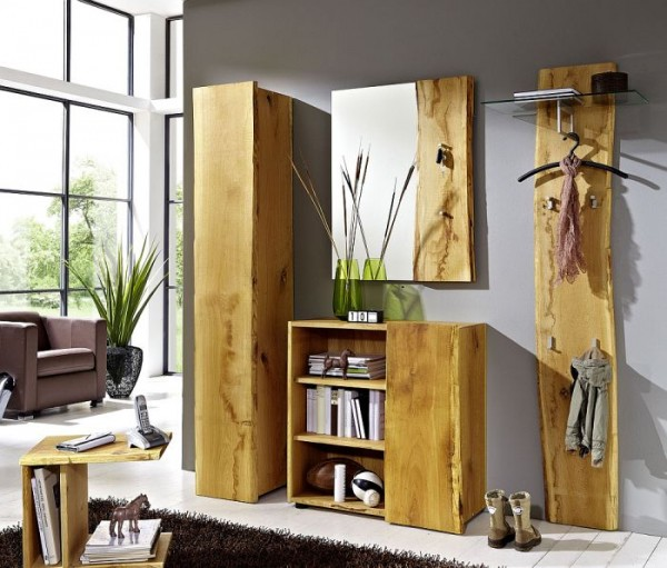 Garderobe Eiche Massiv Wohn Design