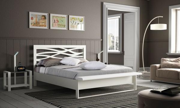 A Brio Wave Metallbett mit integrierter Bettbank