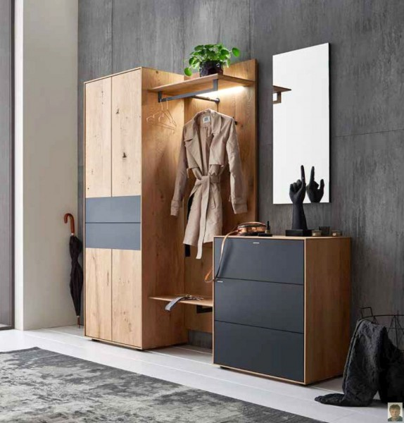 runa garderobe kerneiche natur geb rstet m. Black Bedroom Furniture Sets. Home Design Ideas