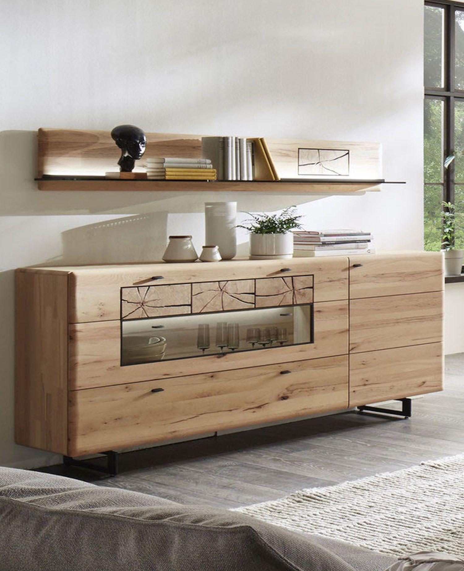 kvik sideboard kernbuche massiv geb rstet m. Black Bedroom Furniture Sets. Home Design Ideas