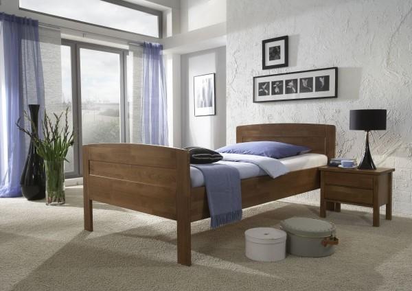 A Komfort Seniorenbett Buche Walnuss gebeizt